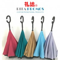 Waterproof Double Layer Reversed Advertising Umbrellas (RPGU-2)
