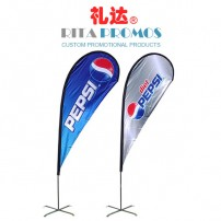 Custom Outdoor Adverting Beach Teardrop Flags Printing (RPAF-6)