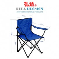 Outdoor Beach Lounge Folding Captain's Chair (RPFC-3B)