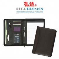 PU Leather A4 Portfolio Case Meeting Folder with Calculator (RPP-1)