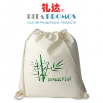 Promotional Off-white Bamboo Fiber Drawstring Backpack (RPBFDB-2)