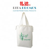 Promotional Bamboo Fibre Tote/Drawstring Bag with Handle (RPBFDB-3)
