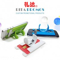 Custom Silicone ID Clip Holder Stand for Smart Phone (RPMDP-4)