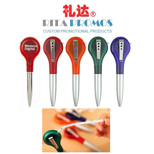 Custom Branded Ballpoint Pen with Measuring Reel Tape (RPCPP-7)