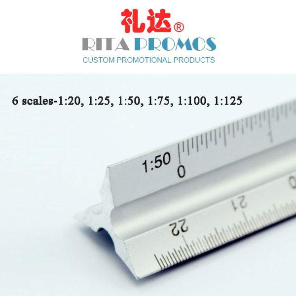 Promotional Branded Aluminium Triangular Ruler (RPTGR-001)