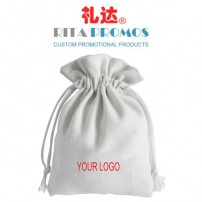 White Cotton Canvas Drawstring Bags for Promotional Giveaways (RPCDB-4)
