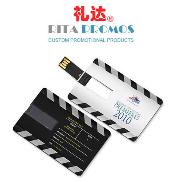 USB Memory Pendrives Business Credit Card Style with Full Color Printing Logo (RPPUFD-6)