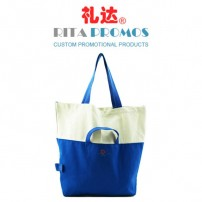 White & Blue Cotton Handbags/Tote Bags for Corporate Gifts (RPCTB-3)