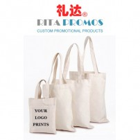 Custom Off-white Cotton Canvas Handbags/Carry Bags with Printed LOGO (RPCTB-4)