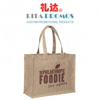 High Quality Brown Linen Tote Bags Marron Handbags (RPLTB-2)