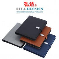 Multi-functional Notebook Power Bank USB Drive with PU Leather Cover for Business Gifts (RPNPU-001)