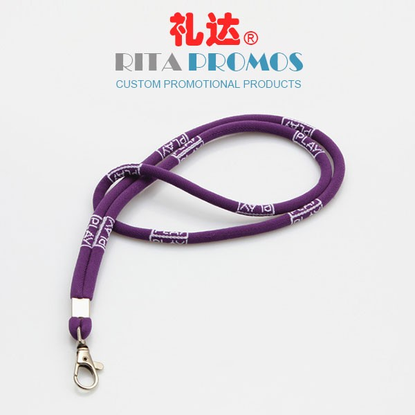 Custom Round Jacquard Woven Lanyards Polyester Cords (RPPL-17)