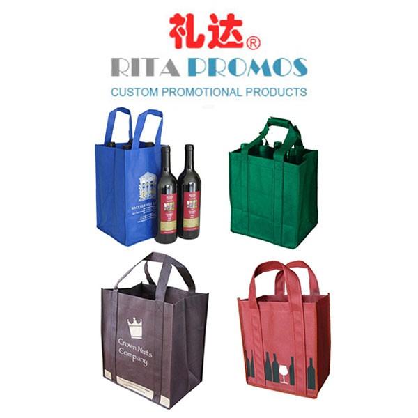 Custom Non-Woven Wine Bottle Tote Bags (RPNTB-2)