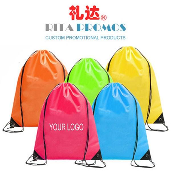 Custom Promotional 210D Polyester Drawstring Backpacks (RPPDB-2)