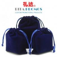 Custom Promotional Velvet Drawsrtring Gift Bags/Pouches (RPVDB-1-1)