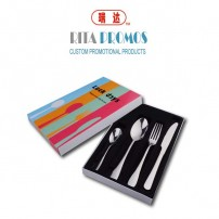 Custom Promotional Stainless Steel Cutlery Set (RPPC-1)